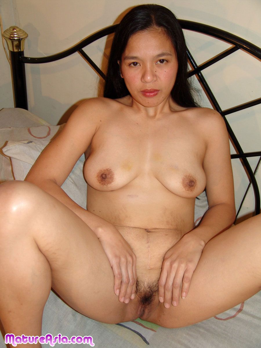 Terrific amateur asian mature pic