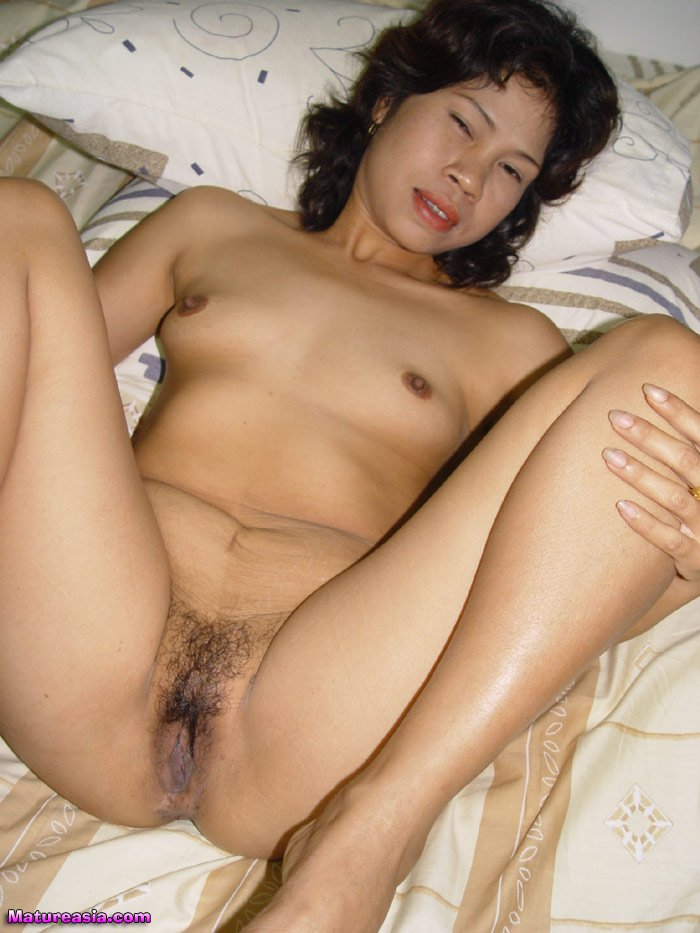 Asian milf spreading