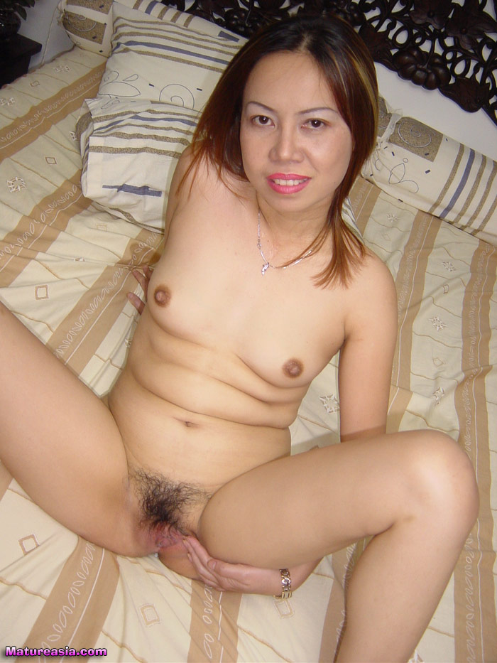 Asian mature toyed